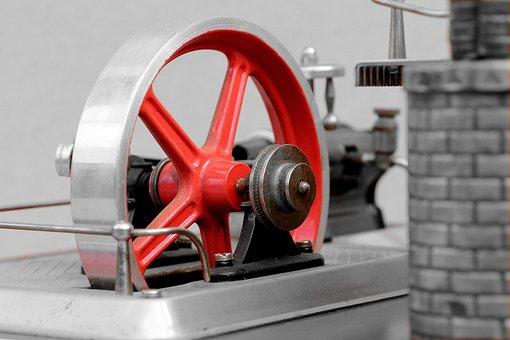 Steam Engine, Toys, Flywheel, Drive, Metal Construction