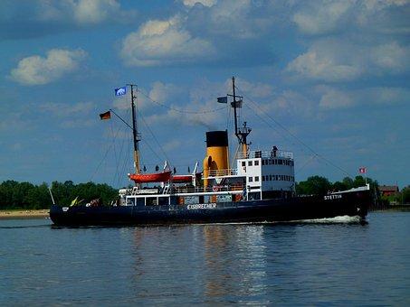 Elbe, Seafaring, Icebreaker, History, Museum, Ship