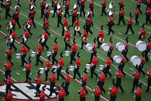 Band, Marching, Drum, Uniform, Music, Instrument