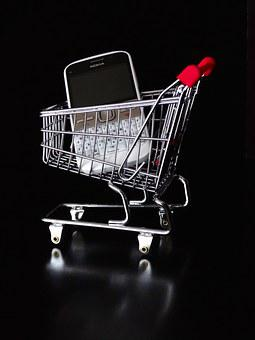 Mobile, Online, Dare, Shopping Cart, Basket, Bassinet
