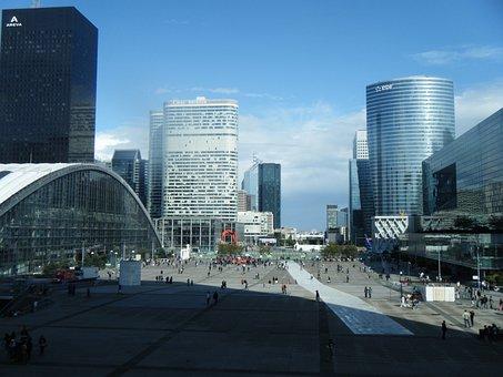 The Arc De Triomphe, District, Modern, Architecture