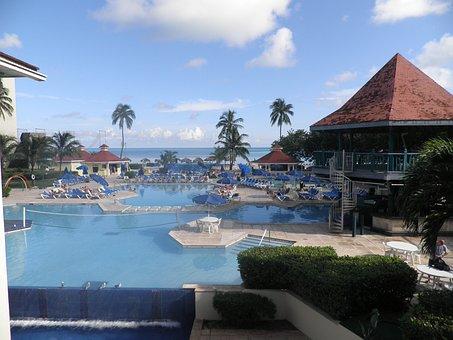Pool, Hotel, Ocean, Tropical, Bahamas, Beach, Island