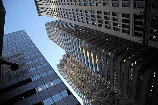 Skyscrapers, Cityscape, Architecture, Office Block