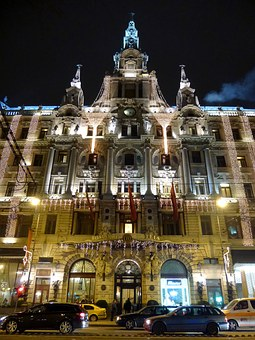 New-york, Cafe, Palace, Hotel, In The Evening, Light