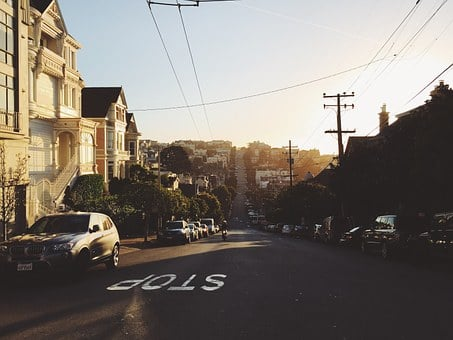 San Francisco, Street, Neighborhood, Village, Home