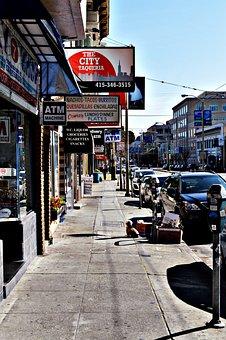 Street, City, Urban, Road, Business, Scene, Travel