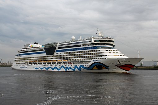Aida, Ship, Driving Cruise Ship, Sea, Holiday, Water