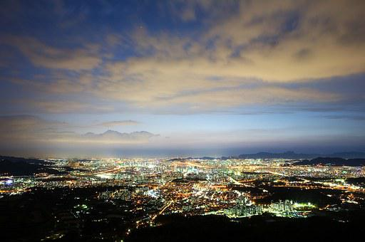 Seoul, Night View, The Night Sky, Sky, Cloud