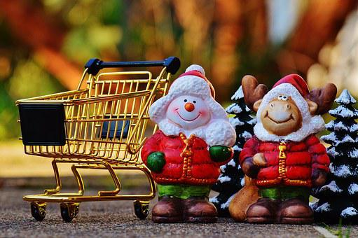 Shopping Cart, Christmas, Shopping, Purchasing, Candy