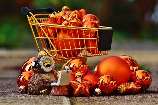 Online Shopping, Christmas, Shopping Cart, Shopping