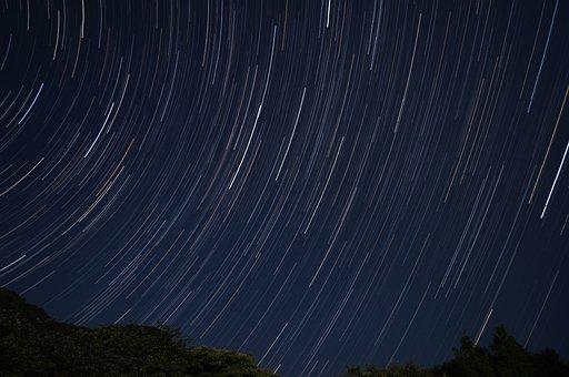 Star, Stars Trajectory, Night, Sky, The Night Sky