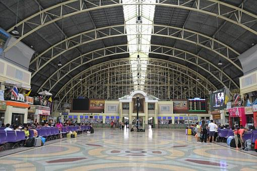 Arched Roof, Train Station, Station, Roof, Railway
