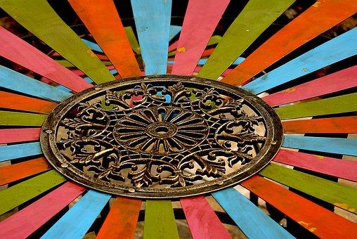 Ornament, Wheel, Openwork, Measure, The Centre Of