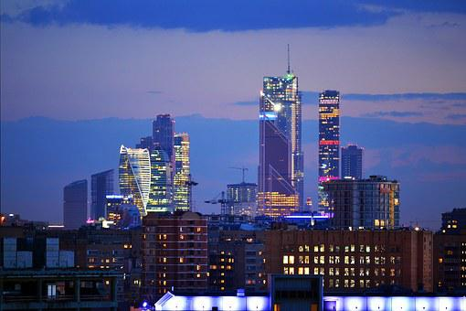 Night, Downtown, Towers, Skyline, Cityscape, City