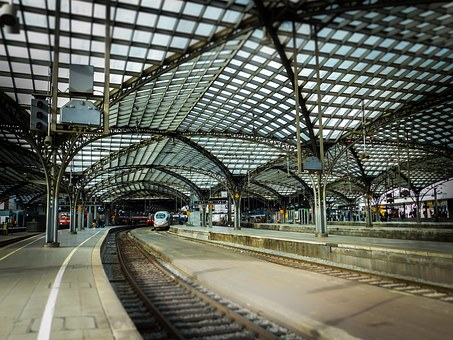 Railway Station, Roof, Cologne, Trains, Railway, Ice