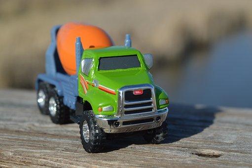 Truck, Cement Truck, Vehicle, Transportation
