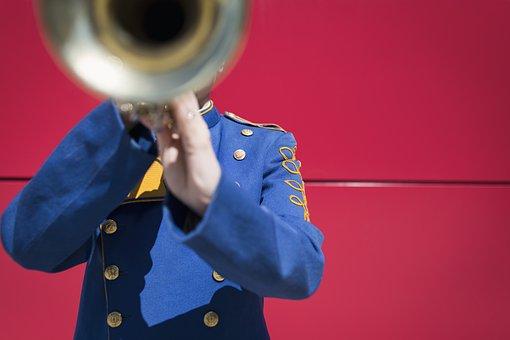 Trumpet, Music, Sound, Band, Jazz, Uniform, Trombone