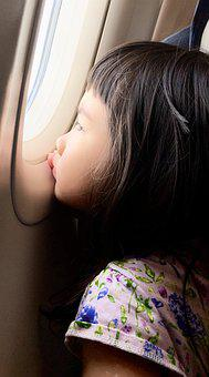 Girl, Airplane, Flight, Happiness, Wings, Sky