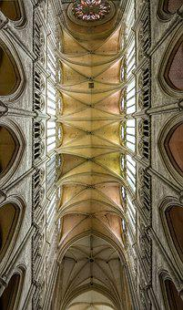 Cathedral, Amiens, Church, Vault, Nave