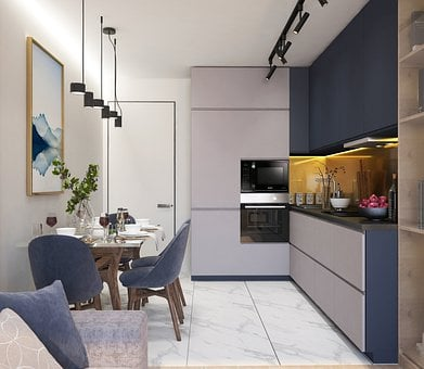 Kitchen, Design, Interior, Apartment, Apartments