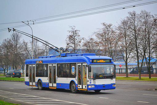 Trolley, Bus, Russia, Belarus, Road, City, At Home