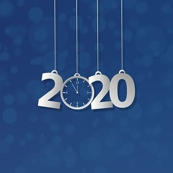 Background, 2020, Christmas, Bokeh, Blue, Silver