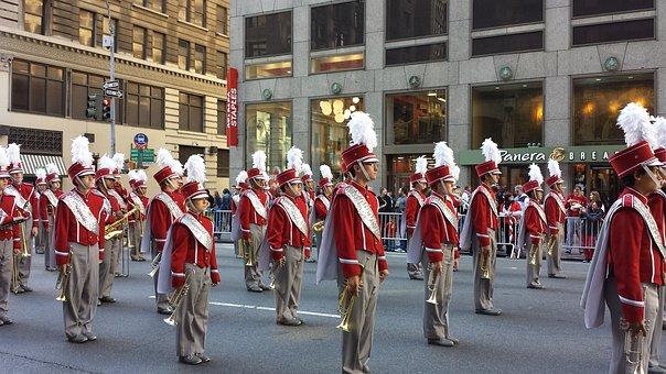 Polish, Polasky, March, Parade, Nyc, Marching, Band