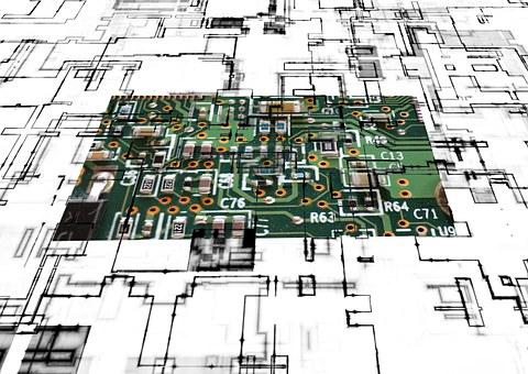 Board, Circuit, Control Center, Technology, Silver