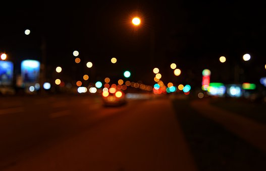 Lights, Colored, Out Of Focus, Circles, Bokeh, Night
