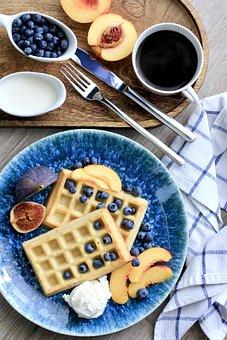 Breakfast, Nutrition, Food, Wafer, Peach