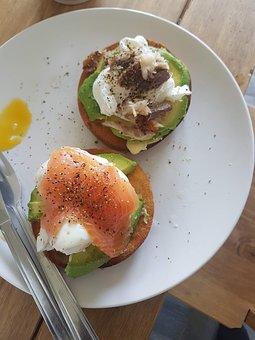 Easter, Brunch, Bagel, Breakfast, Food, Salmon, Morning