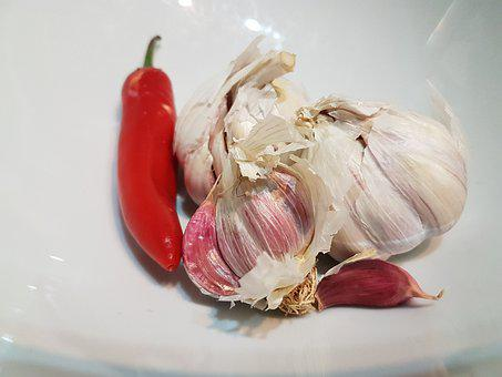 Garlic, Chilli And Garlic, Food, Chili, Chilli, Spices