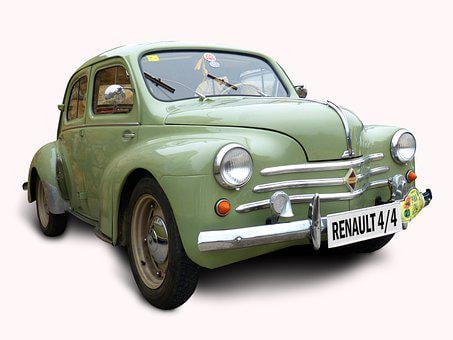 Car, White Background, Old, Vintage, Green, Classic
