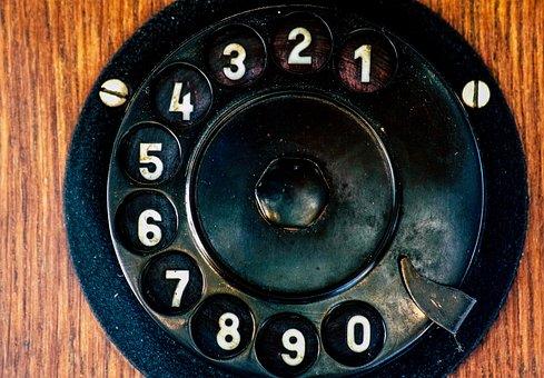 Phone, Dial, Analog, Communication, Post, Bakelite