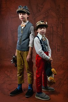 Steampunk, Kids, Costumes, Gentlemen