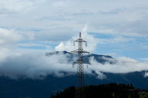 Current, Sky, Energy, Clouds, Landscape, Electric, Blue