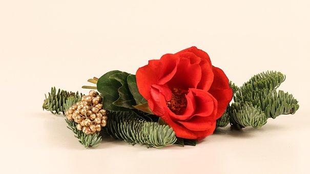 Rose, Christmas, Decoration, Table Decoration