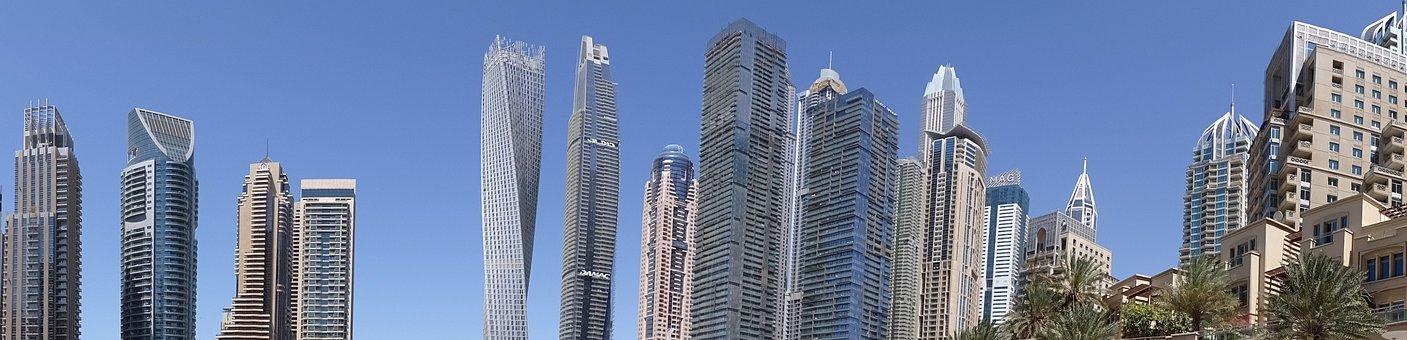 Dubai, Skyline, Marina, Skyscrapers