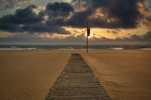 Beach, Dawn, Empty, Sunset, Ocean, Dusk, Sky, Landscape