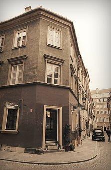 Building, Corner, Old, Epoch, Windows, Street, Find
