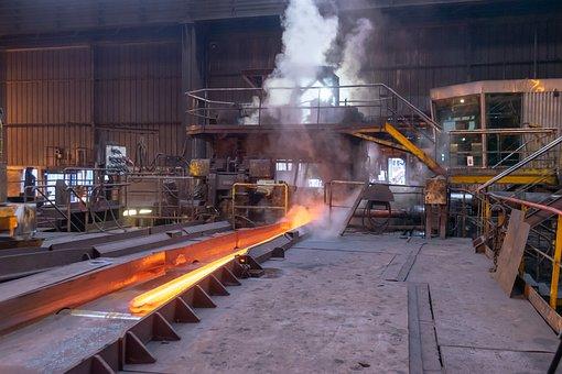 Steel, Industry, Factory, Rail Making, Hot, Machines