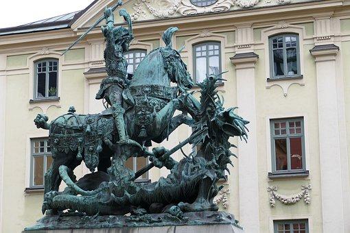 Stockholm, Sweden, Sculpture, Figure, Monument, Georg