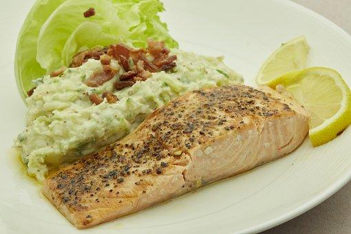 Salmon, Seafood, Sea, Fish, Restaurant, Food, Delicious