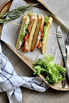 Sandwich, Lunch, Fish, Rosemary, Wafer