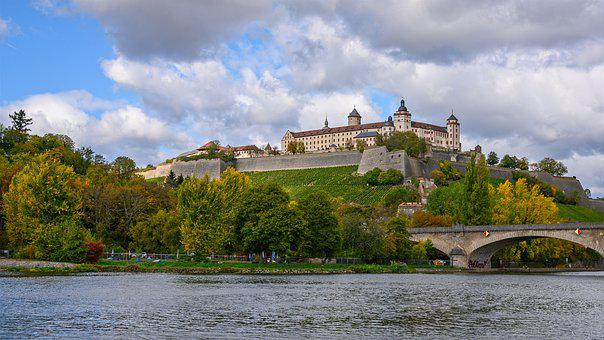 Castle, Fortress, Castle Marienberg, Würzburg, Bavaria