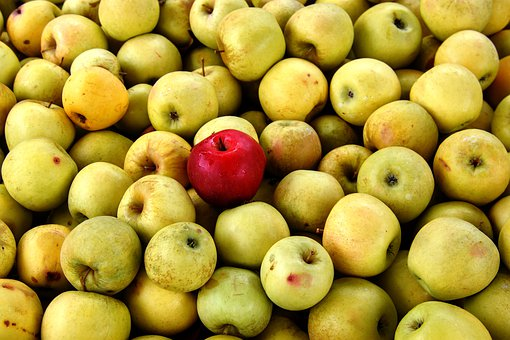 Apples, Yellow Delicious, Fruit, Food, Colorful