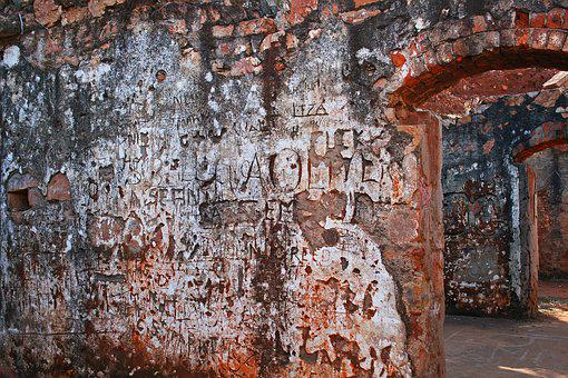 Graffiti On Old Wall, Architecture, Background