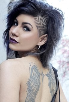Sexy, Eyes, Lips, Short Hair, Hairstyle, Shaved, Design