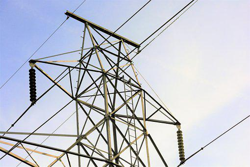 Electrical, Tower, Top, High, Voltage, Cable
