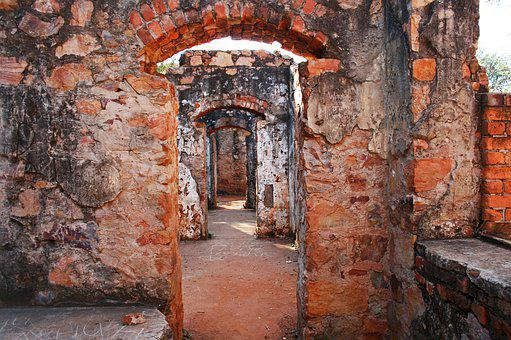 Old Ruined Fort, Fort, Old, Ruins, Arched, Doorways